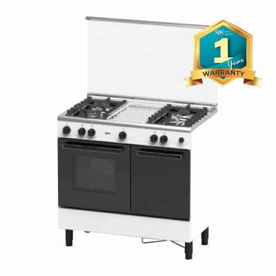 Zanussi Gas Cooker ZCG940W (62L Gas Oven) 4 Gas Burners
